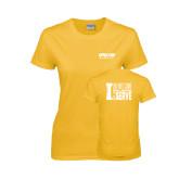 Ladies Gold T Shirt-Upward Sports