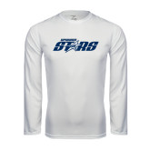 Syntrel Performance White Longsleeve Shirt-Upward Stars