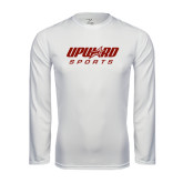 Syntrel Performance White Longsleeve Shirt-Upward Sports