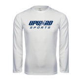Performance White Longsleeve Shirt-Upward Sports