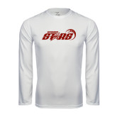 Performance White Longsleeve Shirt-Upward Stars Basketball