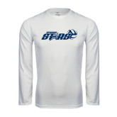 Performance White Longsleeve Shirt-Upward Stars Volleyball