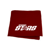 Maroon Sweatshirt Blanket-Upward Stars
