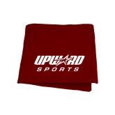 Maroon Sweatshirt Blanket-Upward Sports
