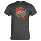 Charcoal T Shirt-Upward Sports Play With Purpose Basketball