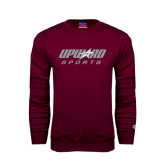 Maroon Fleece Crew-Upward Sports