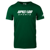 Adidas Dark Green Logo T Shirt-Upward Sports