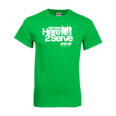 Kelly Green T Shirt-Here 2 Serve