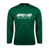 Syntrel Performance Dark Green Longsleeve Shirt-Upward Sports