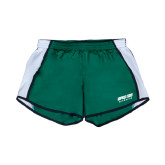 Ladies Dark Green/White Team Short-Upward Sports