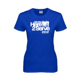 Ladies Royal T Shirt-Here 2 Serve