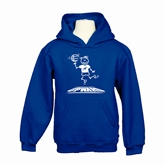 Youth Royal Fleece Hoodie-Stick Man Basketball