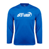 Performance Royal Longsleeve Shirt-Upward Stars Basketball