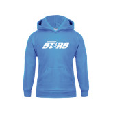 Youth Light Blue Fleece Hood-Upward Stars