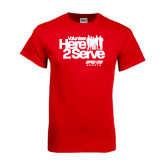 Red T Shirt-Here 2 Serve