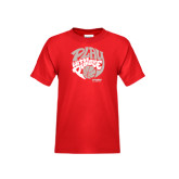 Youth Red T Shirt-Upward Sports Play With Purpose Basketball
