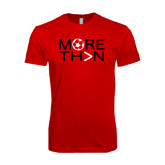 Next Level SoftStyle Red T Shirt-More Than Soccer
