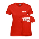 Ladies Red T Shirt-Upward Sports