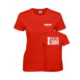 Ladies Red T Shirt-Upward Sports