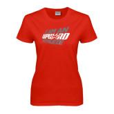 Ladies Red T Shirt-I Am An Upward Athlete