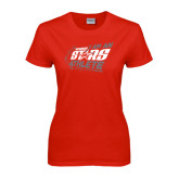 Ladies Red T Shirt-I Am An Upward Stars Athlete