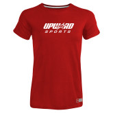 Ladies Russell Red Essential T Shirt-Upward Sports