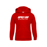 Youth Red Fleece Hood-Upward Sports
