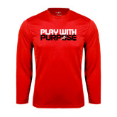 Performance Red Longsleeve Shirt-Play With Purpose