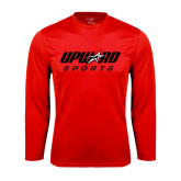 Syntrel Performance Red Longsleeve Shirt-Upward Sports