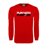 Red Long Sleeve T Shirt-Play With Purpose