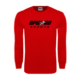Red Long Sleeve T Shirt-Upward Sports