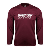 Syntrel Performance Maroon Longsleeve Shirt-Upward Sports