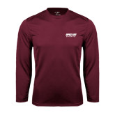 Performance Maroon Longsleeve Shirt-Upward Sports