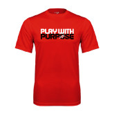 Performance Red Tee-Play With Purpose