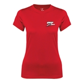 Ladies Syntrel Performance Red Tee-Logo Only