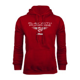 Cardinal Fleece Hood-Upward Stars Play With Purpose Volleyball