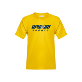 Youth Gold T Shirt-Upward Sports