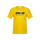 Youth Gold T Shirt-Upward Sports