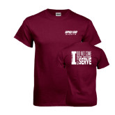 Maroon T Shirt-Upward Sports