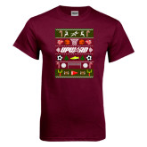 Maroon T Shirt-Upward Christmas Shirt