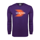 Purple Long Sleeve T Shirt-More Than Blury