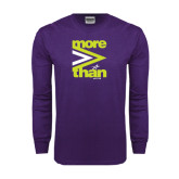 Purple Long Sleeve T Shirt-More Than
