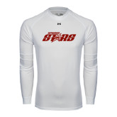 Under Armour White Long Sleeve Tech Tee-Upward Stars