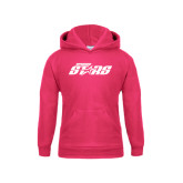 Youth Raspberry Fleece Hoodie-Upward Stars