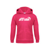 Youth Raspberry Fleece Hoodie-Upward Stars Basketball