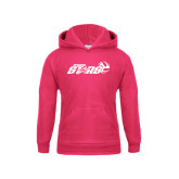 Youth Raspberry Fleece Hoodie-Upward Stars Volleyball