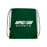 Nylon Dark Green Drawstring Backpack-Upward Sports
