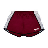 Ladies Maroon/White Team Short-Upward Sports