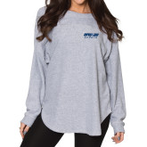 Ladies Grey Sherpa Slouch Jersey-Upward Sports