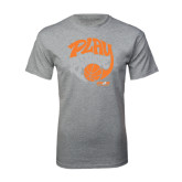 Sport Grey T Shirt-Upward Sports Play With Purpose Basketball